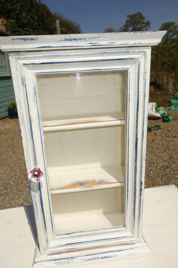 Vintage french rustic upcycled shabby chic style two for Bathroom cabinets gumtree