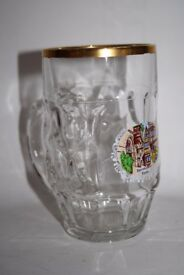 Burnkastel-Keus Thick Glass Tankard Stein German Beer Lager Glass Man Cave 0,5 L