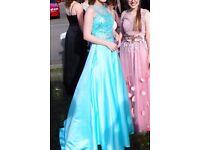 BLUSH PROM BY ALEXIA Two-Piece A Line Prom Dress Mint Style X346 UK Size 6-8