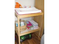 IKEA Baby Changing Table + Mat + 2x Covers