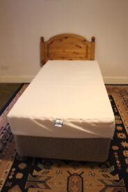 Single Bed with Pine Headboard