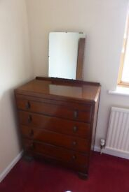 Retro 4 drawer chest with Mirror from 1950's