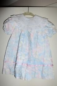 Girls / Kids PIC.UP.STIX Dress with Broderie Anglaise Collar, age approx 3 - 4 Years, vgc, Histon