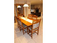 Classic Dining room Table and six Chairs