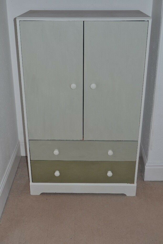 Nursery Cupboard Children S Wardrobe White And Green