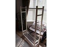 White Ikea Wardrobe - clothes rack