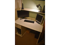 White Ikea office desk