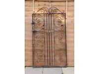 Wrought Iron Garden Side Gate