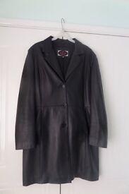 Ladies Leather Knee Length Coat