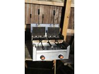 Double Commercial Gas Waffle Maker / Waffle Irons -SOLD