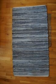 Small Rug, Recycled Jean Chindi, 50x75cm, excellent condition (3 months old)