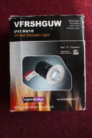 New ML Knightsbridge RDSHW White Recessed GU10 Bathroom Downlight IP65 35W