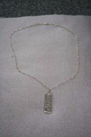 Stunning Charles Rennie Macintosh pendant and chain - silver