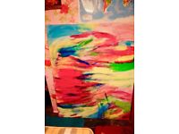 Very large original abstract painting