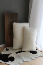 IKEA Limited Edition 4 Pillows knitted wool creme
