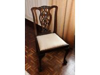 Dining Table and Chairs Chippendale Style