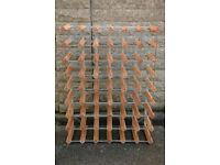 48 Bottle Wooden/Metal Wine Rack