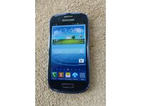 SAMSUNG GALAXY S3 MINI, PEBBLE BLUE, UNLOCKED