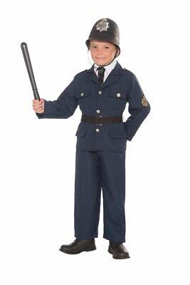 British Bobbie Police Cop Officer Uniform Child Boys Halloween Costume S M L New (Cop Costume For Boys)