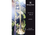 Geneva Bb/F trombone with case