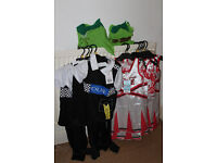 JOB LOT RESALE CAR BOOT BUNDLE OF NEW WITH TAGS 13 KIDS FANCY DRESS COSTUMES POLICE CHEERLEADER