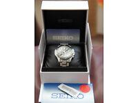 Seiko Mens Chronograph Black dial watch SSB111PI