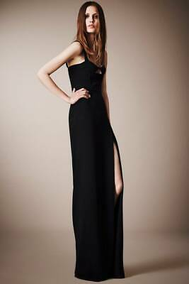 BURBERRY Prorsum Black Crepe Rare Corset Cocktail Evening Dress Size 36