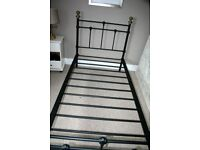 Sturdy Quality single metal bed with mattress, cost more than £200.00 in Bensons for Beds.