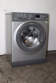 Hotpoint 7kg Silver 1400 Spin Washing Machine Digital Display 6 Month Warranty