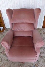 Sherbourne Electric Recliner Armchair in Dusty Pink