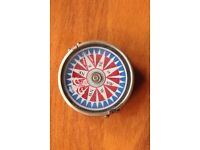 Beautiful NEW Collectable Bronze Pocket Compass Nautical Bold Modernist Pattern