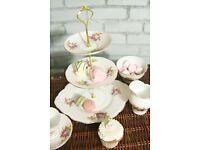 Beautiful vintage handmade bone china cake stands sweetie stands & trios.