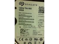 500GB Seagate laptop hard drive (2017 model)