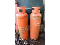 2 x 47kg Propane Calor Gas Bottles (Empty)