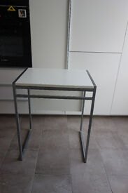 Nice small folding table, W=600mm, D=450/900mm, H=740mm.