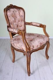 BEAUTIFUL LOUIS FRENCH STYLE CARVER CHAIR - UK WIDE DELIVERY
