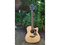YAMAHA A1R ELECTRO ACOUSTIC. JUMBO WITH CUTAWAY, AND TUNER/PREAMP.