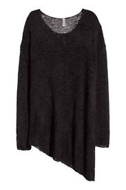H&M Divided Asymmetrical Jumper Black Size M BNWOT