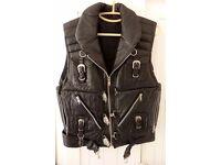 Leather Waist Coat Jacket Hand Made-One Off, Bike, Club