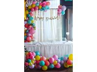 Party and event decorations. Balloon Garlands Children's party decorations in London! Free Quote!!