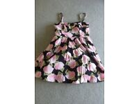 LADIES SUMMER DRESS WITH/WITHOUT STRAPS, SIZE 12, NEW