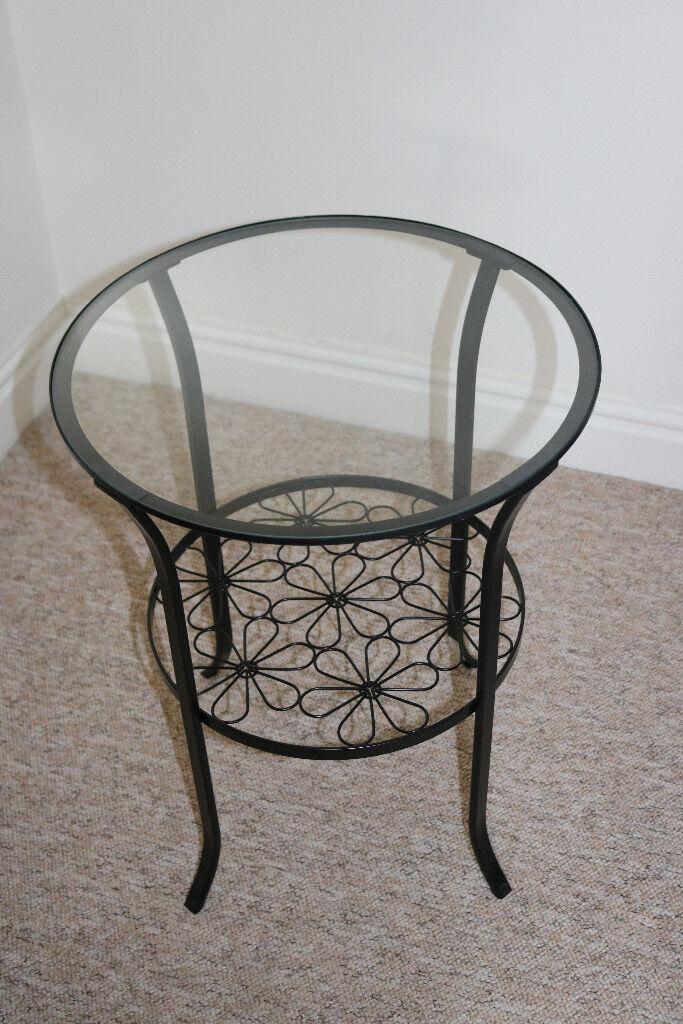 Ikea Klingsbo Glass Side Table