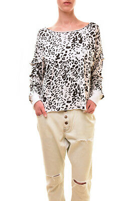 Wildfox Women's Authentic Wildcat Adri Sweater White Size S RRP £119 BCF83