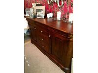 Wills & Gambier Lille Cherrywood Sideboard & Two Matching Lamp Tables