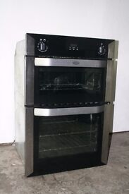 Belling Built-In Double Oven Digital Display Excellent Condition 12 Month Warranty