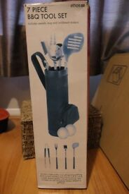 7 piece BBQ tool set (golf design)