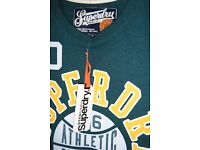 BRAND NEW WITH TAGS- Mens Green 'Slam Dunk' SUPERDRY T-Shirt, Size Large