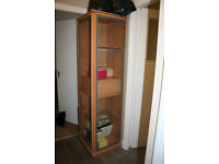 Storage Display Unit. Two Drawers and Doors. Glass Shelves. Good Condition