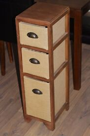 3 Drawer Basket Storage Rack Unit