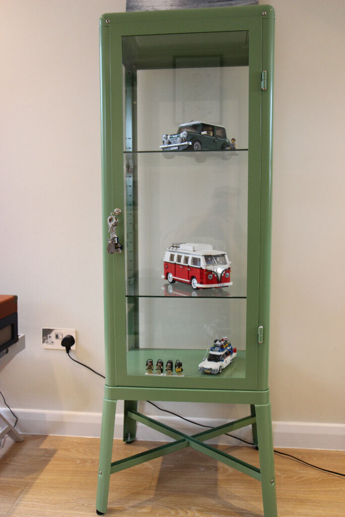 IKEA Fabrikor glass cabinet in green | in Wanstead, London | Gumtree